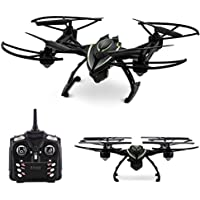 Aduro Altitude StealthBlazer Drone w/ HD Camera to take picture & record 360° 3D Flips – 2.4 GHz Aerial Quadcopter & LCD Interface Remote Control, 3.7V600Ma Lithium Battery, Micro SD Slot