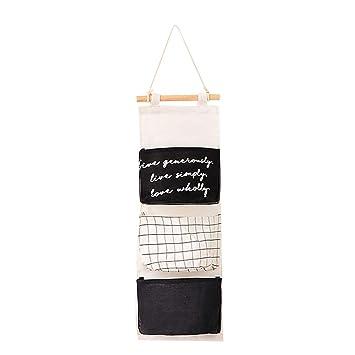 kanggest H/ängender Organizer Wand H/ängetasche mit 3 Taschen H/ängeaufbewahrung Aufbewahrungstasche f/ür Kinderzimmer Badezimmer Schlafzimmer B/üro,59x20CM