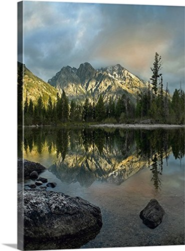 greatBIGcanvas Gallery-Wrapped Canvas entitled Mount Saint John and Jenny Lake, Grand Teton National Park, Wyoming by Tim Fitzharris - Lake Jenny Grand