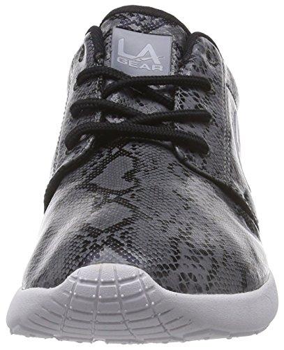 L.A. Gear Sunrise - zapatilla deportiva de material sintético mujer gris - Grau (Grey-Snake-Black 01)