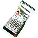 Panasonic BQ-CC16 Smart and Fast Charger w/ 4x Rechargeable NiMh Batteries AA 1900mAh