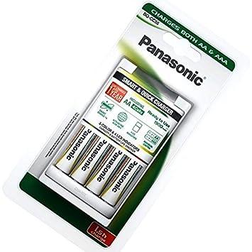 Panasonic bq-cc16 Inteligente y Cargador rápido w / 4X ...