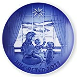 Bing & Grondahl 1021113 Christmas Plate 2017, Waiting for Dad