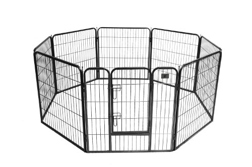 BestPet Hammertone Finish Heavy Duty Pet Playpen Dog Exercise Pen Cat Fence S, 32-Inch -