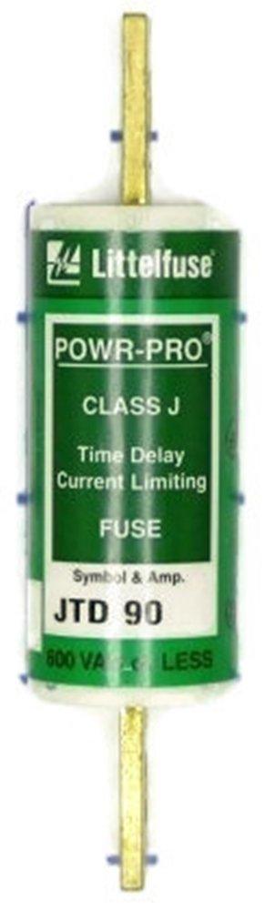 Littelfuse JTD 90 JTD090, 90Amp (90A) 600V Slow Blow Class J Cartridge Blade Fuse