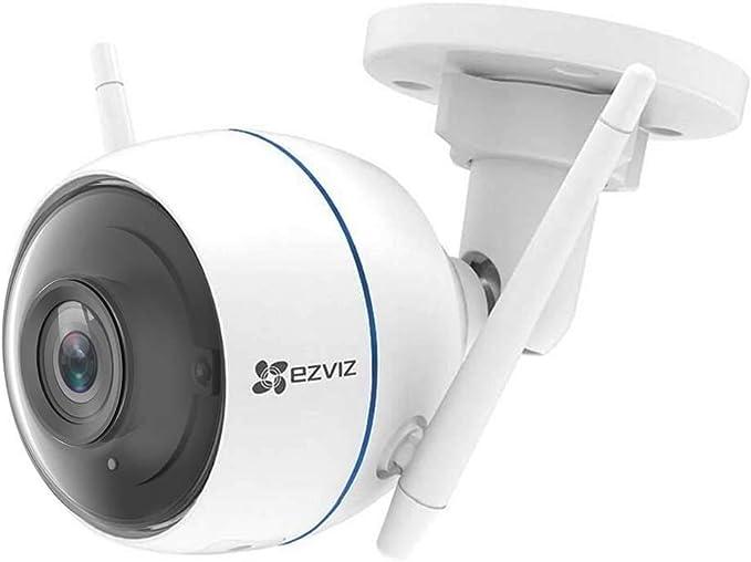 TALLA Single lens. EZVIZ Cámara de Vigilancia Exterior 1080p, Wi-Fi Cámara de Seguridad Visión Nocturna Defensa Activa, Luz Estroboscópica y Sirena, IP66, Audio Bidireccional, Compatible Con Alexa, Google Home, ezTube
