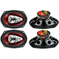 New BOSS Chaos CH6940 6x9 500W 4-Way Car Coaxial Audio Stereo Speakers Red