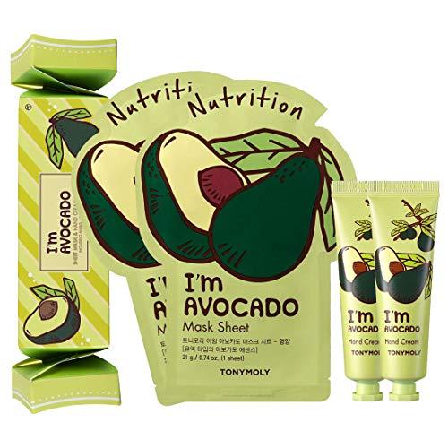 TONYMOLY Sheet Mask with Hand Cream Box Set, I'm Avocado, 168 g