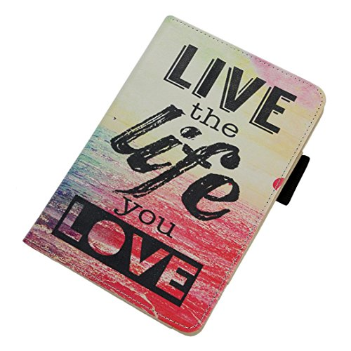 Livoty Leather Shell Fold Case Cover For Amazon Kindle Fire HD 7 Inch Tablet