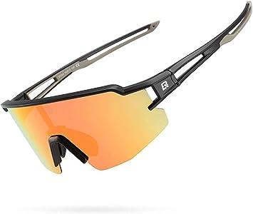 ROCKBROS Gafas de Sol Polarizadas Deportivas Protección UV para Bicicleta MTB Ciclismo Running Pesca Deportes para Hombre Mujer: Amazon.es: Deportes y aire libre