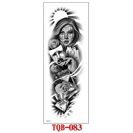 7pcs Tatuaje impermeable masculino tatuaje tatuaje Fuego manga ...