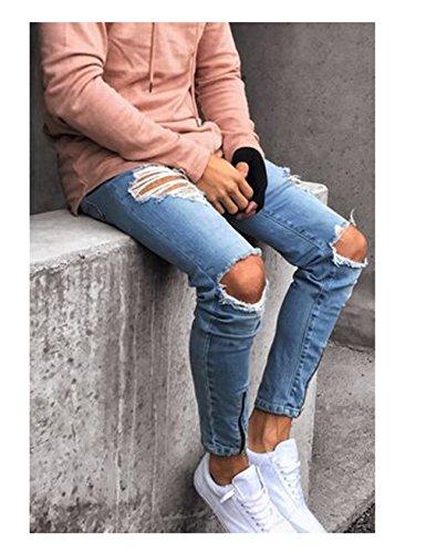Lavados con Rotos Letuwj Jeans Hombres BqT8g