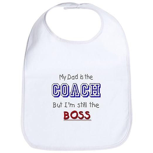 674ebfd28 Amazon.com: CafePress My Dad Is The COACH Bib Cute Cloth Baby Bib, Toddler  Bib: Clothing