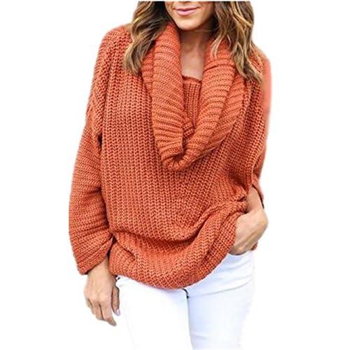 high-quality BESTHOO Sweater Mujeres Cuello Alto Impreso Manga Larga Jersey  De Punto De Pullover 0a2ccb0460e2