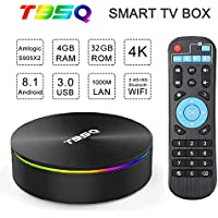 T95Q TV Box Android 8.1 4+32GB Quad Core WiFi BT 3D 4K USB HDMI Media Player New