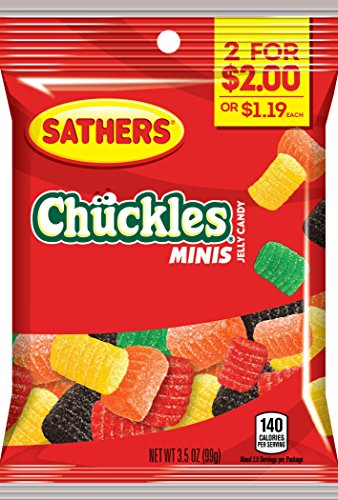 Sathers Mini Chuckles Jelly Candy, Lemon/Anise/Orange/Lime, 3.5 Ounce (Pack of (Lime Orange Jelly)