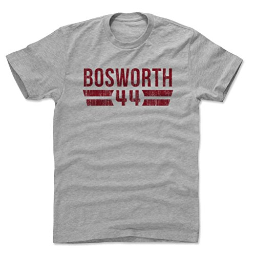 500 LEVEL Brian Bosworth Cotton Shirt (X-Large, Heather Gray) - Oklahoma Sooners Men's Apparel - Brian Bosworth Font R
