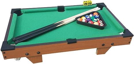 Billar Snooker plegable For adultos niños Escritorio piscina miniatura Juego de mesa de mesa juguete del juego de mesa de billar de juguete en miniatura con la mini bolas de piscina Cue