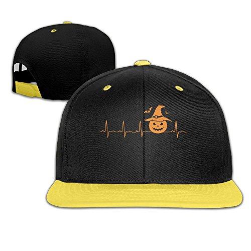 Pumpkin Halloween Heartbeat Hip-Hop Caps with Kids Baseball Hats Boy and Girl -