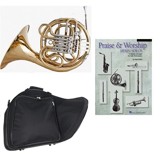 Band Directors Choice Double French Horn Key of F/Bb -Praise & Worship Hymn Solos Pack; Includes Intermediate French Horn, Case, Accessories & Praise & Worship Hymn Solos Book by Double French Horn Packs