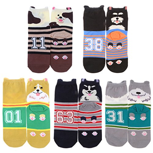MonkeyJack 5 Pair Mens Womens Boys Cotton Mid Calf Ankle Crew Short Socks New Lot by MonkeyJack