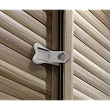 Sliding Door Lock for Closets and Windows, Grey/White, 2 PC