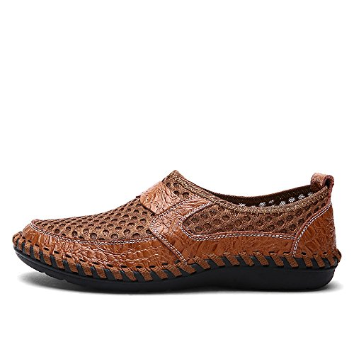 TOREAD Summer Men's Outdoor Breathable Shoes, Cloth Shoes, Travel Shoes. (9.5, Brown) by TOREAD (Image #1)