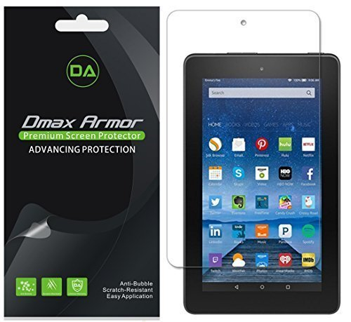 (3 Pack) Dmax Armor for All New Fire 7 Tablet Screen Protector, (9th and 7th Generation, 2019 and 2017 Release) Anti Glare and Anti Fingerprint (Matte)