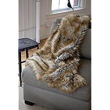 Woven Workz Faux Fur Throw, Wolf