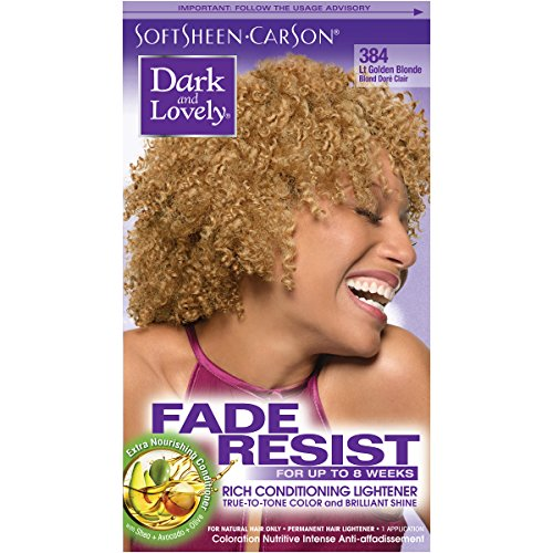SoftSheen-Carson Dark and Lovely Fade Resist Rich Conditioning Color, Light Golden Blonde 384 (Best Box Blonde Hair Dye)