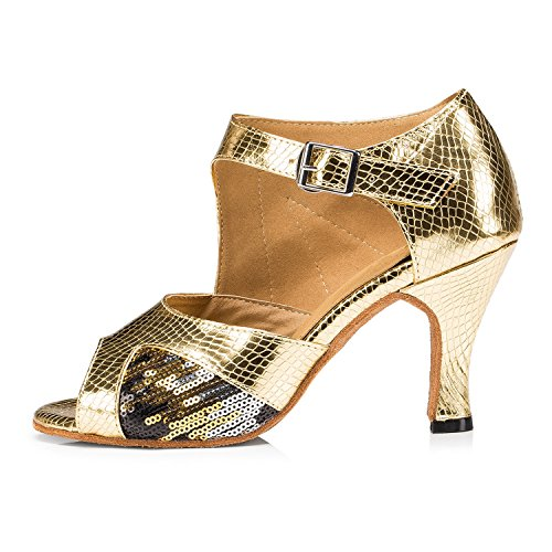 8cm Miyoopark Salle de bal heel femme Gold SXvSwz