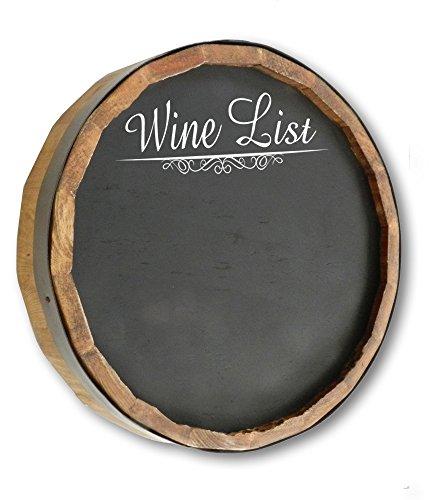 Wine List Quarter Barrel Chalkboard Sign -
