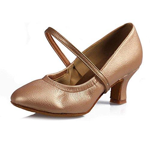 5CM femmes danse latine filles latine danse de 5cm chaussures Beige Chaussures tango de et YFF talon Bal 7cm ISqBTnY