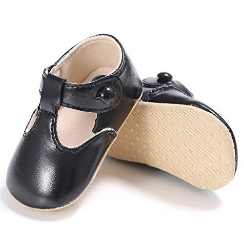 Baby Schuhe Auxma Baby weiche Sohle rutschfeste Schuhe Erste Wanderschuhe Prinzessin Schuhe Für 0-18 Monate (13 12-18 M, Schwarz) Schwarz