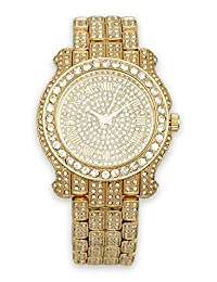 Mens Iced out Watch (Gold)