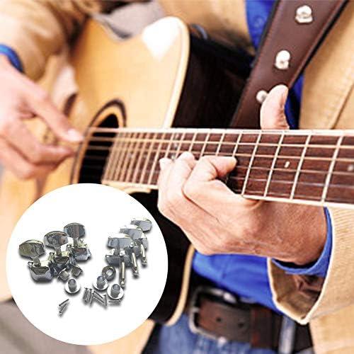 332PageAnn 6 PCS Machine Head m/écaniques daccordage Guitare Acoustique Chrom/é Touches de r/églage Guitare Acoustique /électrique r/églage des Cordes Guitare T/ête de Machine accordeur