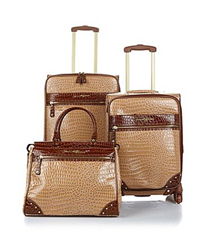 "Samantha Brown First Class Collection 3-Piece Set, 28"" & 21"" Upright & Dowel Bag~ Carmel"
