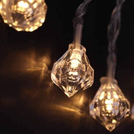 new photos 5f3a1 dc4ca Amazon.com : POPPAP Diamond String Lights Window Lights ...