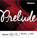 D\'Addario Prelude Violin String Set, 4/4 Scale, Heavy Tension