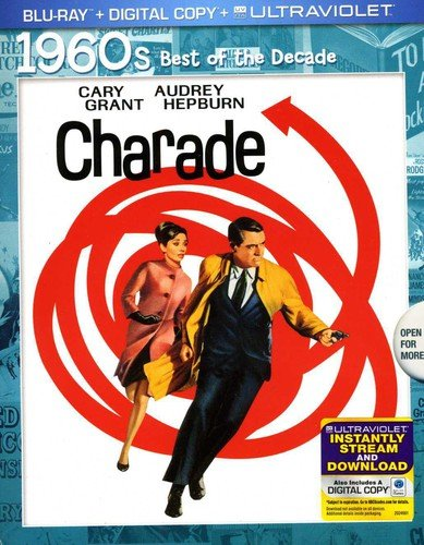 Blu-ray : Charade (Anniversary Edition, Ultraviolet Digital Copy, Snap Case, Slipsleeve Packaging, Digital Copy)