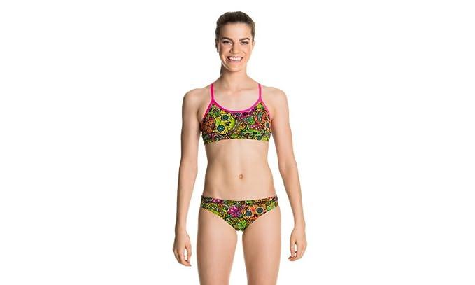 4c1d4b77bedd0 Funkita Skull Keeper Multicoloured Girls Two Piece Bikini Racerback Swimsuit  (Girls 10): Amazon.co.uk: Clothing