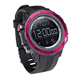 Pyle-Sport PSWWM82PN Digital Multifunction Sports Watch with Altimeter/Barometer/Chronograph/Compass and Weather Forecast, Pink (Discontinued by Manufacturer)