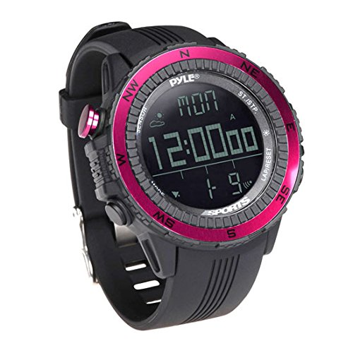 Pyle PSWWM82PN Digital Multifunction Sports Watch with Altimeter/Barometer/Chronograph/Compass and Weather Forecast (Pink) - Altimeter Chronograph Watch