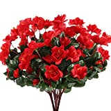 Have limited budget for real Azalea? Our beautiful silk azalea is your ideal choice to create the cheerful  atmosphere. The vibrant color is accented with dew to create the realistic look. This gorgeous  artificial flower is care free and wil...