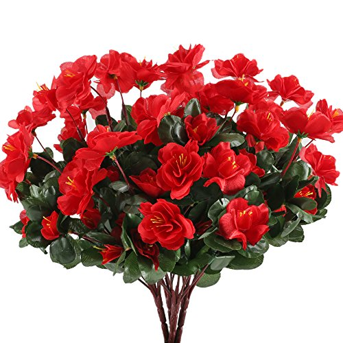 Artificial Ball Tree Plants Pot Wedding Garden Home Outdoor Indoor Decoration Purple Red - 5