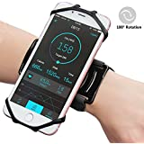"""Matone iPhone X/8/8 Plus/7/7 Plus/6/6S Plus Wristband, 180° Rotatable Phone Holder Forearm Armband Ideal for Jogging Running Compatible with Samsung Galaxy S8/S7 & 4.0""""-5.5"""" Smartphone (Black)"""