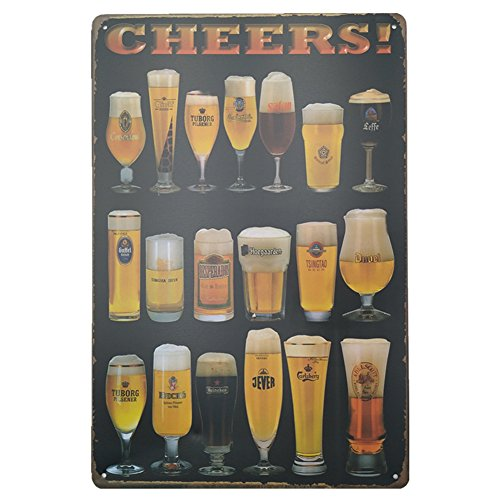 Beers Wine Retro Vintage Bar Metal Tin Sign Poster Style Wall Art Pub Bar Club Wall Home Restaurants Decor12
