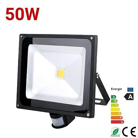 1 x 50 W LED luz de inundación al aire libre movimiento PIR Sensor de lámpara