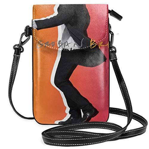 Ruierjia Josh Groban Bridges Small Crossbody Bags Cell Phone Purse Wallet Smartphone Bags for Women Black