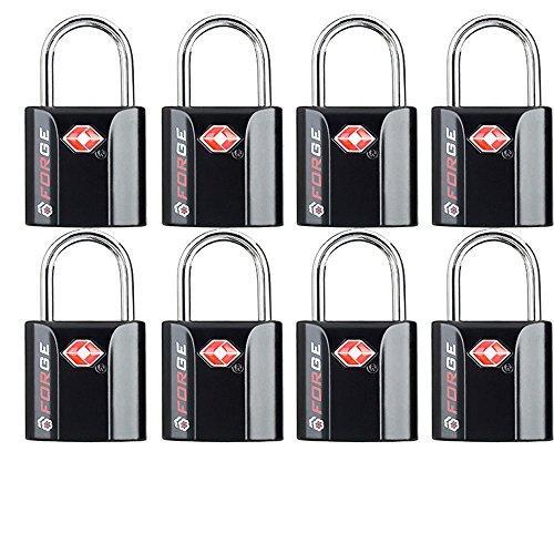 Tsa Accepted Luggage Lock - Black 8 Pack TSA Approved Luggage Locks